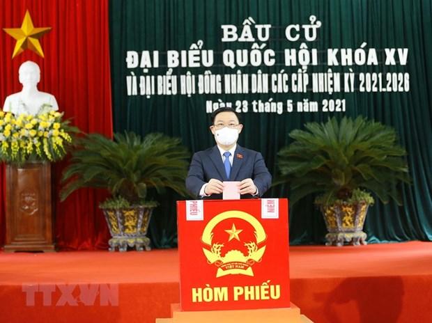 Bau cu Quoc hoi va Hoi dong Nhan dan: Nhung con so thuyet phuc hinh anh 1