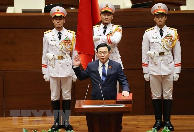 Dong chi Vuong Dinh Hue trung cu Chu tich Quoc hoi khoa XV hinh anh 1