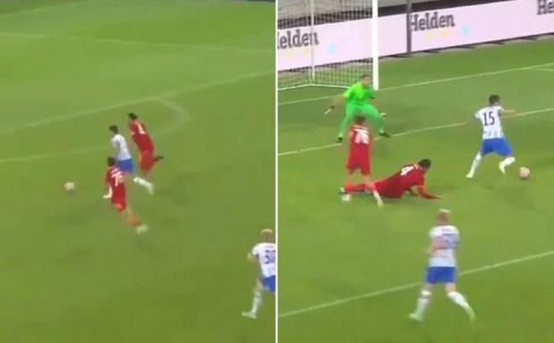 Van Dijk truot nga trong ngay tai xuat khien Liverpool bai tran hinh anh 1