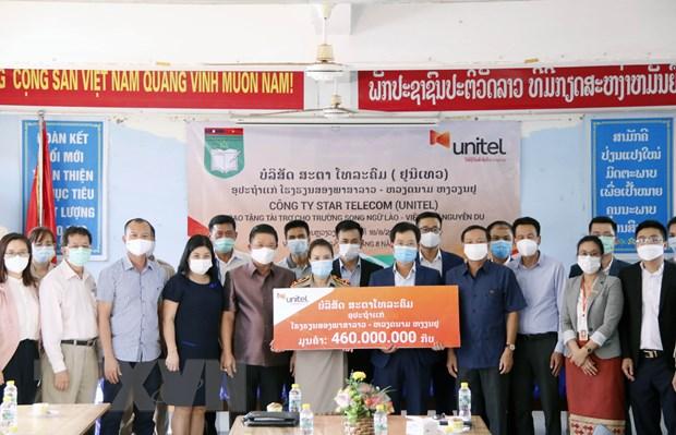 Lien doanh vien thong Viet Nam o Lao ho tro Truong Song ngu Nguyen Du hinh anh 1