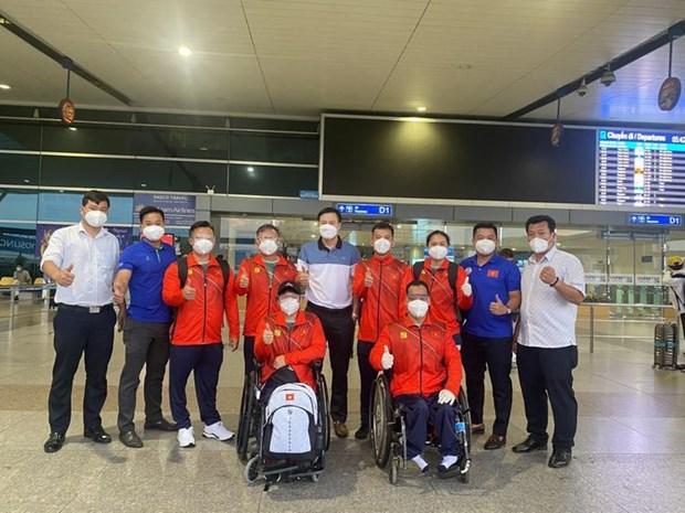 Paralympic Tokyo 2020: Doan The thao Viet Nam da co mat o Tokyo hinh anh 1