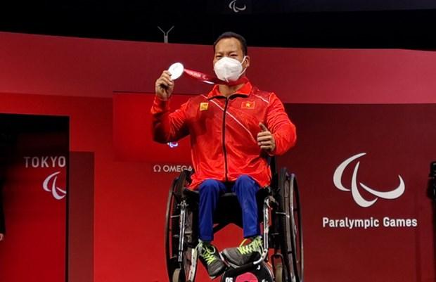 Do cu Le Van Cong gianh huy chuong Bac tai Paralympic Tokyo 2020 hinh anh 1