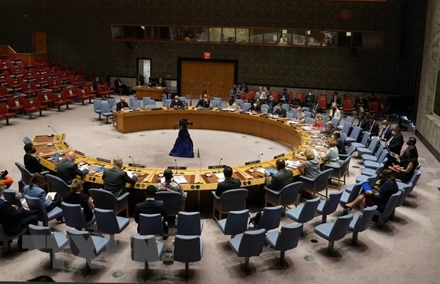Cuộc họp của Hội đồng Bảo an Liên hợp quốc về tình hình Afghanistan tại New York, Mỹ, ngày 16/8. (Ảnh: AFP/TTXVN)