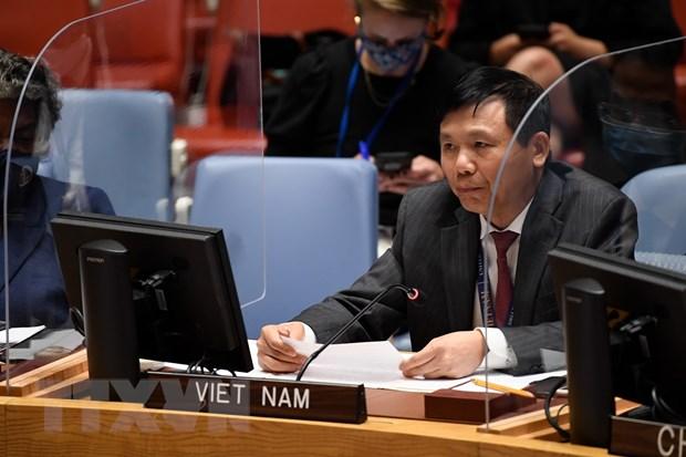 Đại sứ Đặng Đình Quý, Trưởng phái đoàn Việt Nam tại Liên hợp quốc. (Ảnh: TTXVN)