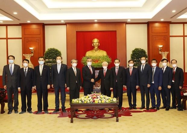 Tong Bi thu Nguyen Phu Trong tiep Bo truong Bo Ngoai giao Trung Quoc hinh anh 1