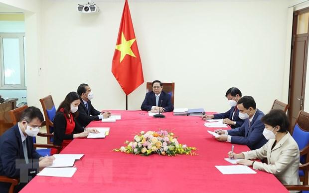 Thu tuong de nghi COVAX phan bo nhanh vaccine danh cho Viet Nam hinh anh 1