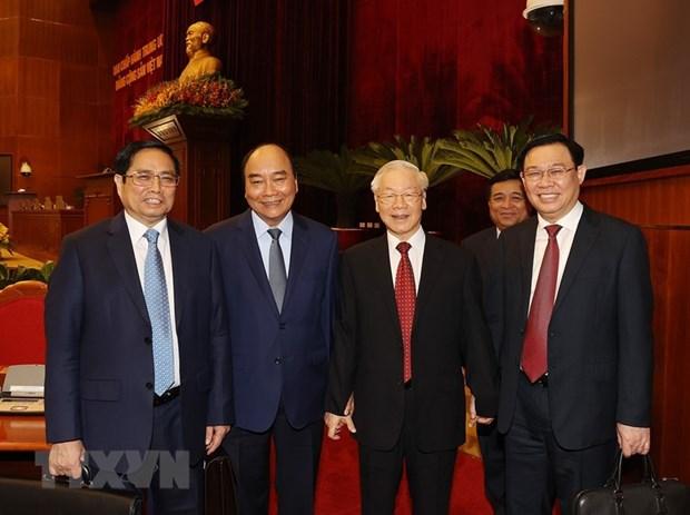 Be mac Hoi nghi lan thu tu, Ban Chap hanh Trung uong Dang khoa XIII hinh anh 1