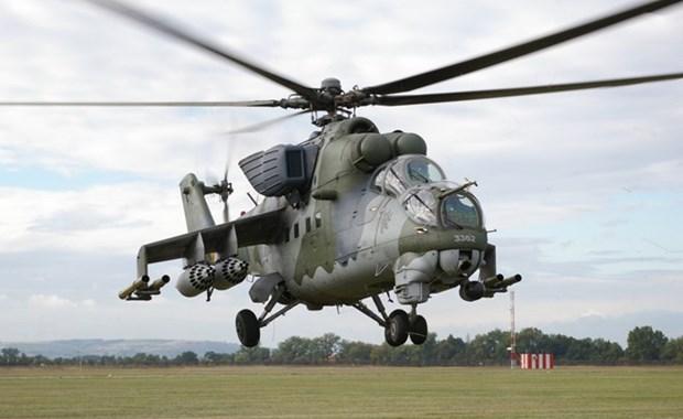 Binh sy Nga gan ten lua cho Mi-24, chuan bi khong kich IS hinh anh 1