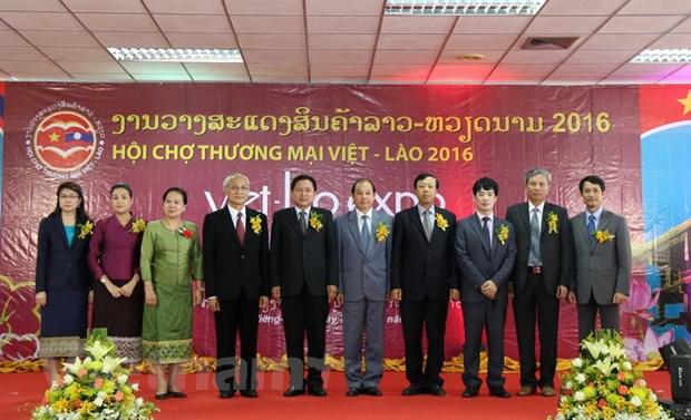 Hoi cho Thuong mai Viet-Lao 2016 thu hut hon 200 doanh nghiep hinh anh 1