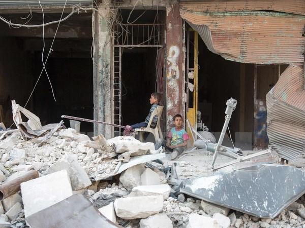 SOHR: Gan 60 dan thuong thiet mang trong cuoc khong kich o Syria hinh anh 1