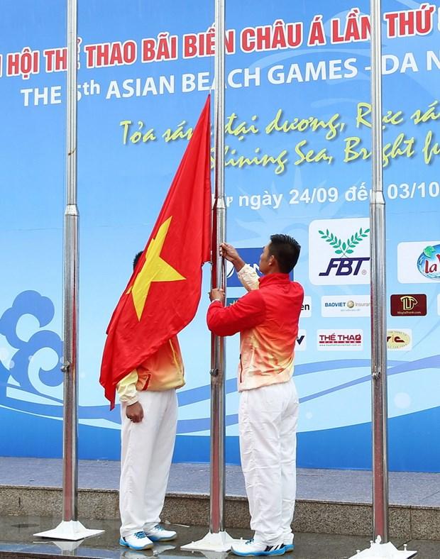 Lanh dao Da Nang du Le thuong co Dai hoi the thao bai bien hinh anh 2