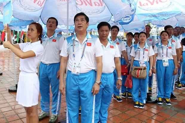 Lanh dao Da Nang du Le thuong co Dai hoi the thao bai bien hinh anh 1