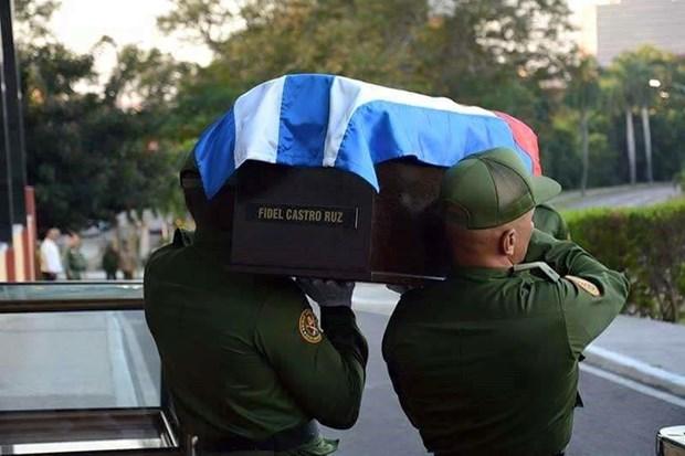 Cuba tien hanh le ruoc tro cot lanh tu cach mang Fidel Castro hinh anh 1