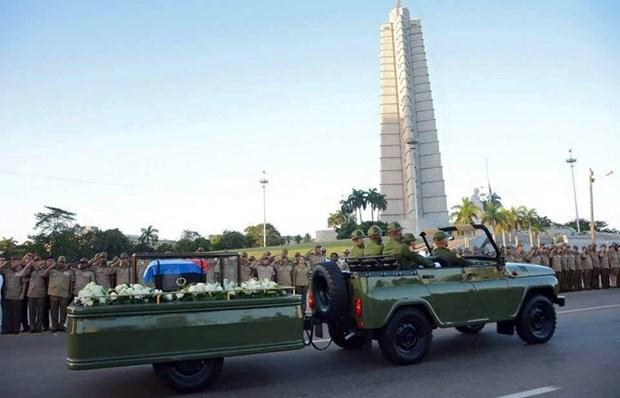 Cuba tien hanh le ruoc tro cot lanh tu cach mang Fidel Castro hinh anh 2