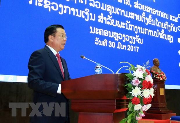 Viet Nam-Lao chia se kinh nghiem quan ly thue, hai quan va kho bac hinh anh 1
