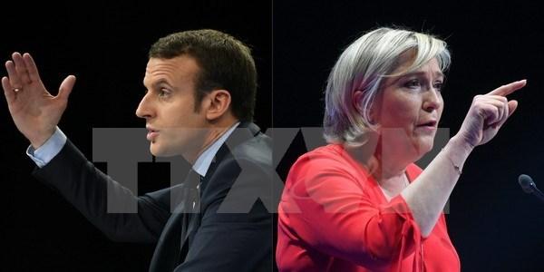 Bau cu Phap: Ong Macron noi rong khoang cach voi doi thu Le Pen hinh anh 1