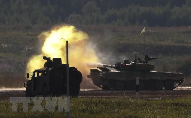 Hang nghin binh sy Nga va Belarus tham gia tap tran chien thuat hinh anh 1