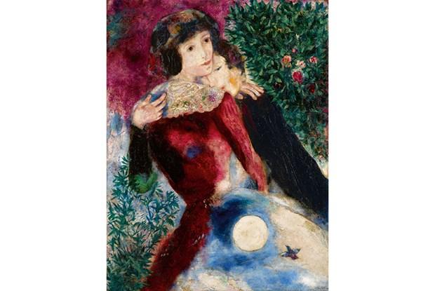 Buc 'Les Amoureux' cua danh hoa Chagall duoc mua lai voi gia ky luc hinh anh 1