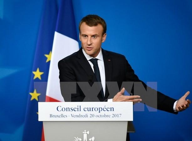 Tong thong Phap Macron duoc vinh danh nho dong gop cho EU hinh anh 1