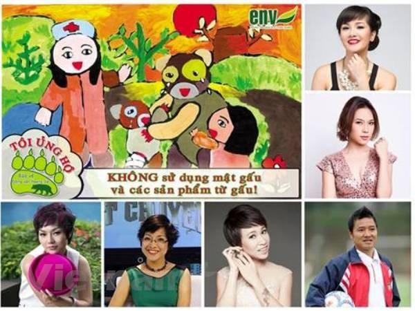 "Sao Viet len tieng ""ung ho"" cham dut nan nuoi nhot gau hinh anh 1"