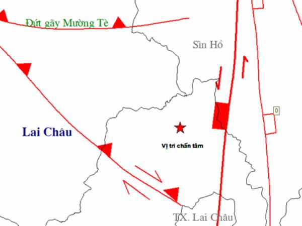 Lai xay ra dong dat 3,4 do Richter tai khu vuc Muong Te-Lai Chau hinh anh 1