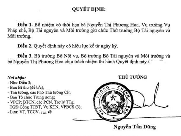Bo nhiem hai vi tri chu chot cua Bo Tai nguyen va Moi truong hinh anh 2