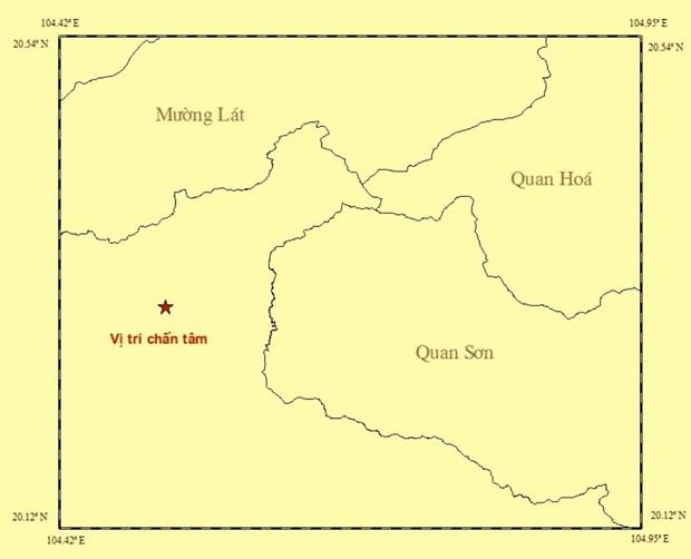 Dong dat 3,9 do Richter tai khu vuc Thanh Hoa gan bien gioi Viet-Lao hinh anh 1