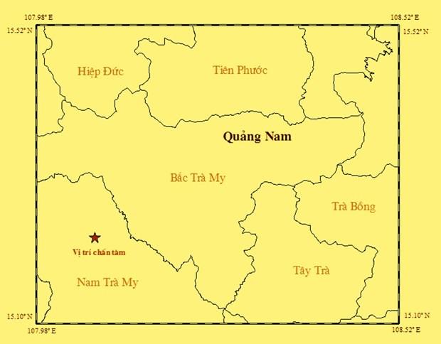 Quang Nam: Lai xay ra dong dat tai khu vuc huyen Nam Tra My hinh anh 1