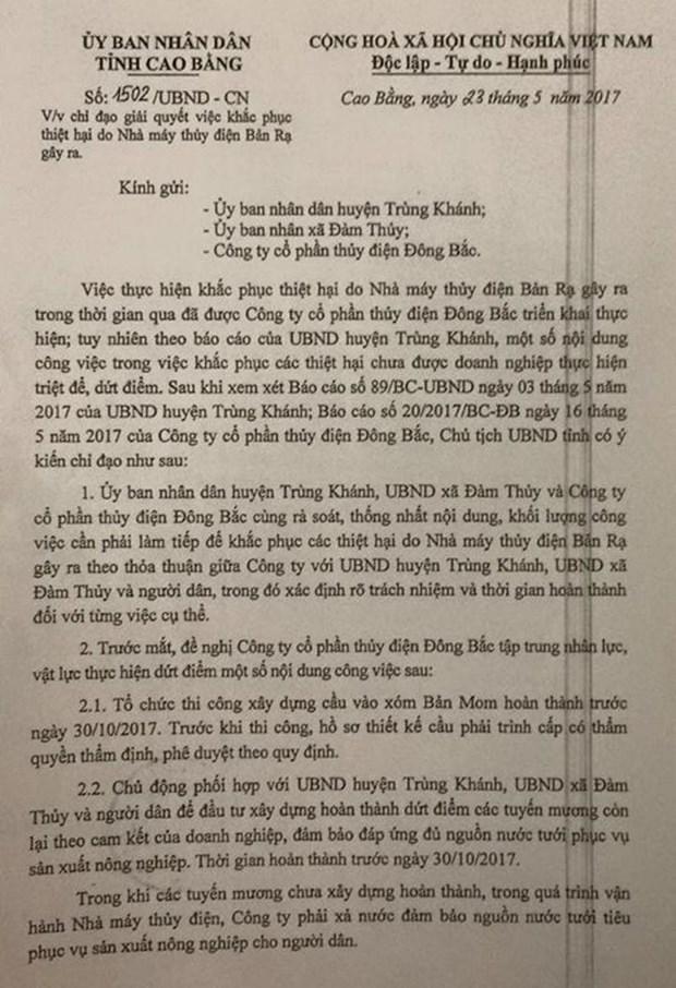Kien nghi dung mua dien neu Nha may thuy dien Ban Ra