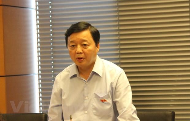 Bo truong Tran Hong Ha: 'Canh bao do' ve an ninh nguon nuoc hinh anh 1