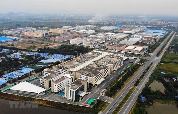 Bất động sản công nghiệp được coi là điểm sáng trong năm 2021. (Ảnh minh họa: TTXVN)
