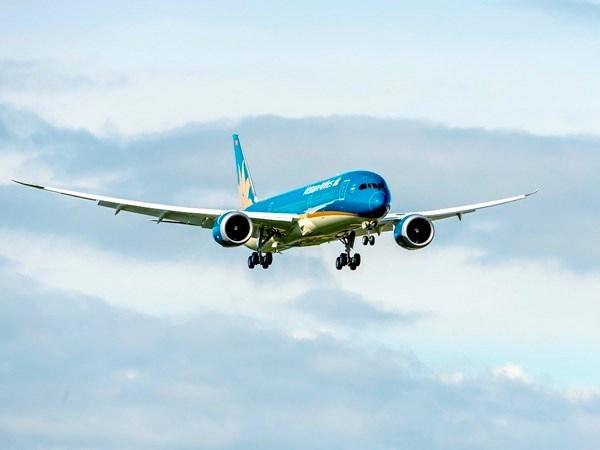 Boeing 787-9 dau tien cua Vietnam Airlines bay trinh dien quoc te hinh anh 1