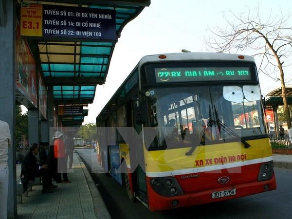 Sap mo tuyen xe buyt chat luong cao Ga Ha Noi-san bay Noi Bai hinh anh 1