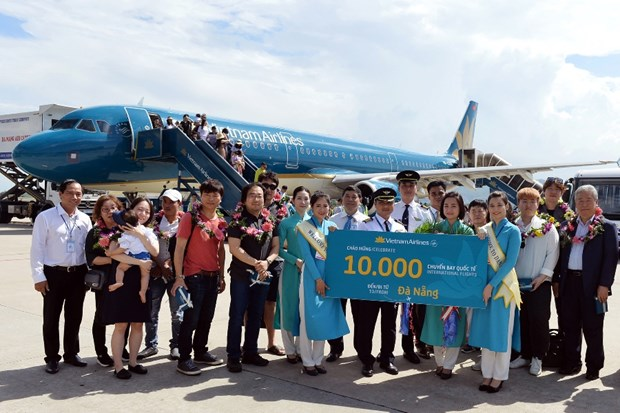Vietnam Airlines don chuyen bay quoc te thu 10.000 tai Da Nang hinh anh 1
