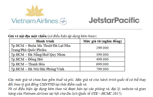 Vietnam Airlines, Jetstar ban nhieu ve bay gia re noi dia va quoc te hinh anh 3
