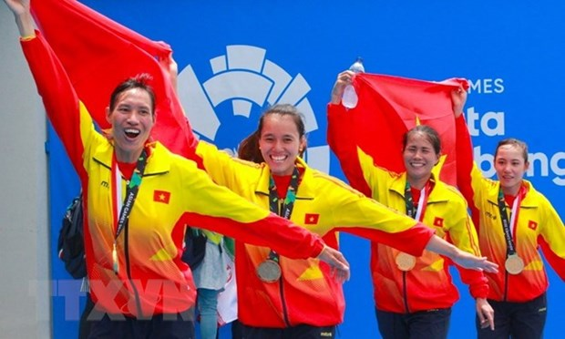 Doi Rowing nu 'giat' vang ASIAD: Thanh cong lon the thao Viet Nam hinh anh 1