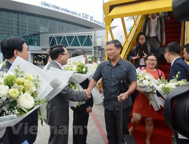 Thu tuong Chinh phu cat bang khai truong 3 duong bay tu Hai Phong hinh anh 1