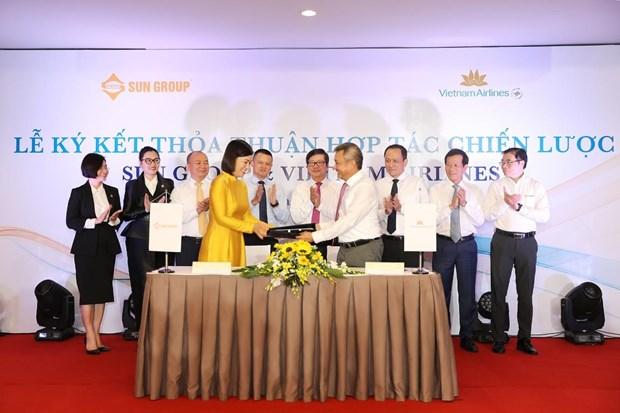 Vietnam Airlines va Sun Group se trien khai dich vu hang khong-du lich hinh anh 2