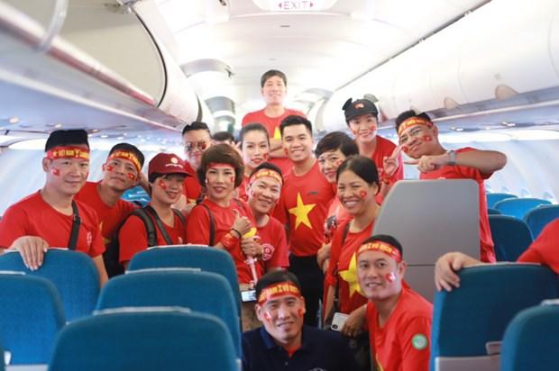 Vietnam Airlines tang chuyen bay cho co dong vien xem tran chung ket hinh anh 1
