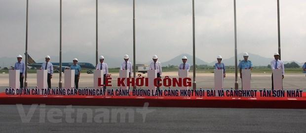 Khoi cong du an sua chua duong bang san bay Noi Bai, Tan Son Nhat hinh anh 1