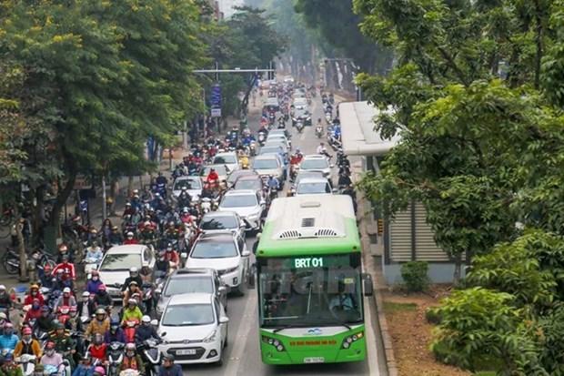 Xe buyt BRT khong la 'lieu thuoc tien' tri un tac giao thong Thu do hinh anh 1