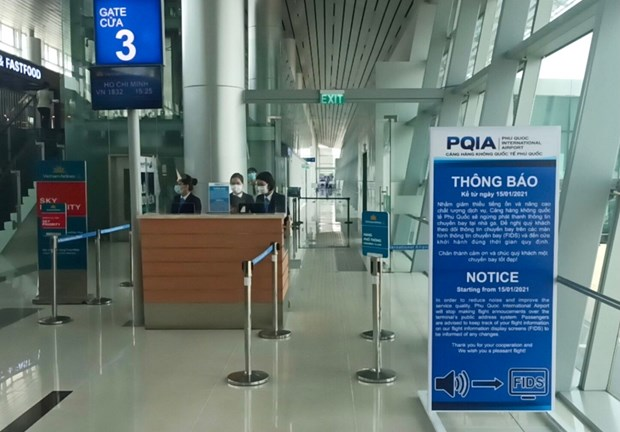 San bay Phu Quoc bat dau ngung phat thanh thong tin chuyen bay hinh anh 1