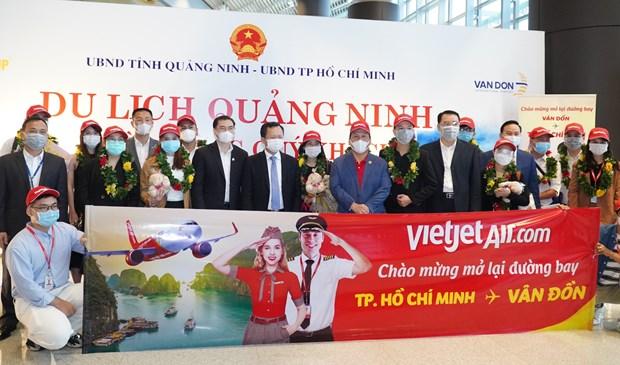 Hang bay Vietjet 'xong dat' san bay Van Don sau khi mo cua tro lai hinh anh 1