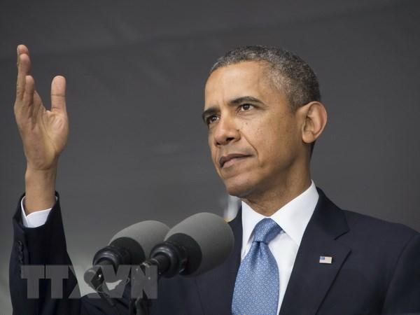 Tong thong My Obama tham chau Au hoi thuc gay ap luc voi Nga hinh anh 1