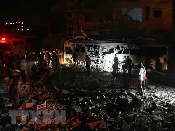 Israel lai khong kich Dai Gaza, 4 nguoi Palestine bi thiet mang hinh anh 1