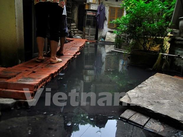 Cac ho dan 146 Quan Thanh van khac khoai cho nuoc cong rut hinh anh 1