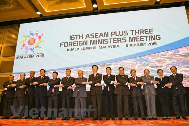 Bo truong ASEAN+3 va EAS thuc day hop tac, lien ket khu vuc hinh anh 1