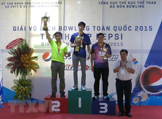 Binh Duong gianh ngoi nhat toan doan Giai vo dich Bowling 2015 hinh anh 1