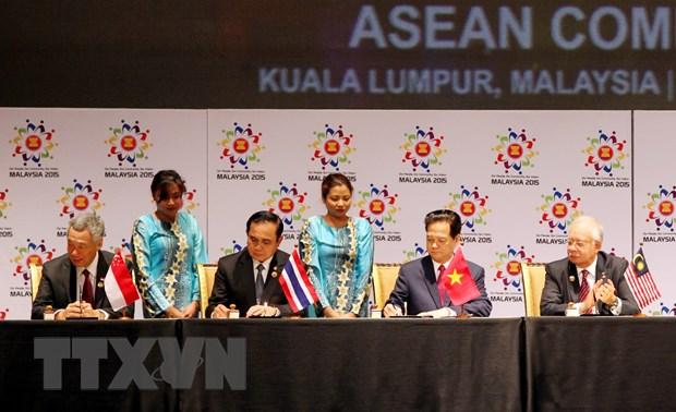 Thong cao bao chi ve viec ky Tuyen bo thanh lap Cong dong ASEAN hinh anh 1
