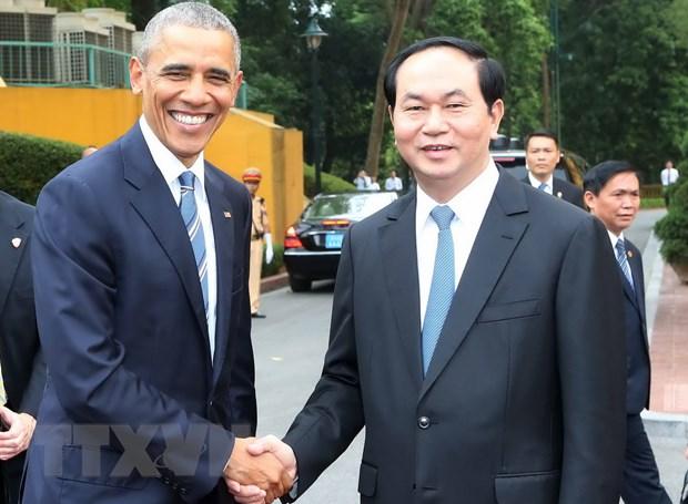 Bao quoc te dua tin ve chuyen tham Viet Nam cua Tong thong Hoa Ky hinh anh 1